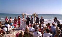 orange county wedding dj djmc ian b beach ceremony