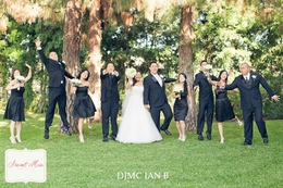 orange county wedding dj djmc ian b bridal party