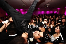 Groom Crowd Surfing at Wedding