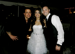 orange county wedding dj djmc ian b with couple
